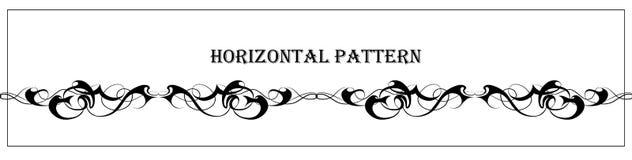 Modelo horizontal gráfico del extracto hermoso stock de ilustración