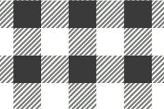 Modelo horizontal negro de la guinga Textura del Rhombus/de los cuadrados para - la tela escocesa, manteles, ropa, camisas, vesti stock de ilustración