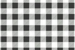 Modelo horizontal negro de la guinga Textura del Rhombus/de los cuadrados para - la tela escocesa, manteles, ropa, camisas, vesti ilustración del vector