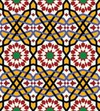 Modelo inconsútil árabe tres de Bonab Fotos de archivo