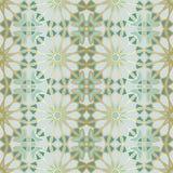 Modelo inconsútil árabe Ventana islámica tradicional de la mezquita con el mosaico de la rejilla del oro stock de ilustración