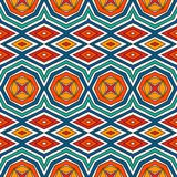 Modelo inconsútil étnico con adorno floral Fondo abstracto brillante del vintage Ornamento tribal Papel digital ecléctico Imágenes de archivo libres de regalías