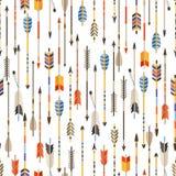 Modelo inconsútil étnico con las flechas indias adentro libre illustration
