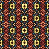 Modelo inconsútil étnico del arte tribal Orn geométrico abstracto azteca ilustración del vector