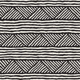 Modelo inconsútil étnico dibujado mano del estilo Fondo geométrico abstracto del embaldosado en blanco y negro libre illustration