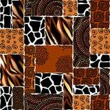 Modelo inconsútil étnico en estilo africano stock de ilustración