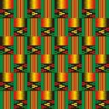 Modelo inconsútil étnico Kente Cloth Impresión tribal stock de ilustración