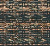 Modelo inconsútil étnico tribal con los elementos geométricos stock de ilustración