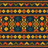 Modelo inconsútil étnico tribal del vector Ideal para imprimir sobre la tela, papel, diseño web Fondo nacional ilustración del vector