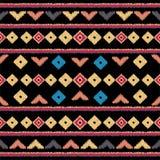 Modelo inconsútil étnico tribal del vector Ideal para imprimir sobre la tela, papel, diseño web Fondo nacional stock de ilustración
