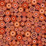 Modelo inconsútil aborigen australiano del vector con los círculos punteados Imagenes de archivo