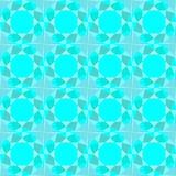 Modelo inconsútil abstracto, azul tallado, fondo de la turquesa, Imagen de archivo