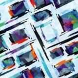 Modelo inconsútil abstracto coloreado en el ejemplo del vector de la calidad del estilo de la pintada para su diseño stock de ilustración