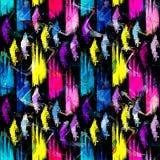 Modelo inconsútil abstracto coloreado en estilo de la pintada ejemplo del vector de la calidad para su diseño Foto de archivo libre de regalías