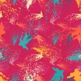 Modelo inconsútil abstracto coloreado en estilo de la pintada ejemplo del vector de la calidad para su diseño Fotos de archivo libres de regalías
