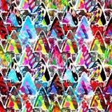 Modelo inconsútil abstracto coloreado en estilo de la pintada ejemplo del vector de la calidad para su diseño Fotos de archivo