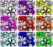 Modelo inconsútil abstracto con las flores. Imágenes de archivo libres de regalías
