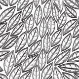 Modelo inconsútil abstracto con las hojas Imagen de archivo libre de regalías