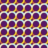 Modelo inconsútil abstracto con los círculos Colores saturados brillantes Imagen de archivo