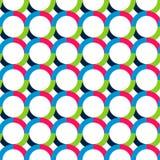 Modelo inconsútil abstracto con los círculos Colores saturados brillantes Foto de archivo libre de regalías