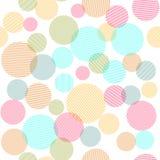 Modelo inconsútil abstracto con los círculos coloridos imágenes de archivo libres de regalías