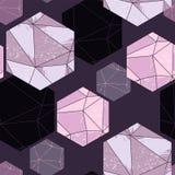 Modelo inconsútil abstracto con los cristales stock de ilustración