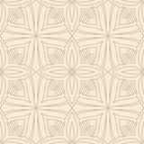 Modelo inconsútil abstracto de la teja de la flor Fotografía de archivo libre de regalías