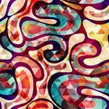 Modelo inconsútil abstracto del color en estilo de la pintada ejemplo del vector de la calidad para su diseño Foto de archivo libre de regalías