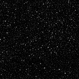 Modelo inconsútil abstracto del universo de puntos Estrellas en el espacio, vía láctea oscura del cielo Galaxia blanco y negro stock de ilustración