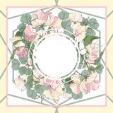 Modelo inconsútil abstracto del vector con los elementos florales dibujados mano Fotos de archivo libres de regalías