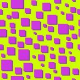 Modelo inconsútil abstracto del vector 80s de los cuadrados Fotografía de archivo
