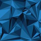 Modelo inconsútil abstracto en colores azules Foto de archivo libre de regalías