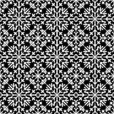 Modelo inconsútil abstracto en el color del black&white para el backg sin fin Foto de archivo