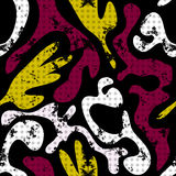 Modelo inconsútil abstracto en una pintada negra del fondo stock de ilustración