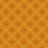 Modelo inconsútil abstracto Punto de cruz Color amarillo y anaranjado stock de ilustración