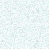 Modelo inconsútil abstracto tribal azul de la repetición Foto de archivo libre de regalías