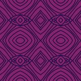 Modelo inconsútil abstracto violeta con las líneas de azules marinos Fotografía de archivo libre de regalías