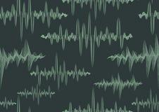 Modelo inconsútil adornado abstracto de las ondas acústicas Fotografía de archivo