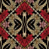 Modelo inconsútil adornado del bordado barroco Vector floral más tapest ilustración del vector