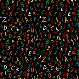 Modelo inconsútil alfabético ilustración del vector