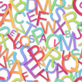 Modelo inconsútil, alfabeto colorido Imágenes de archivo libres de regalías