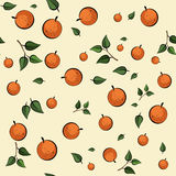 Modelo inconsútil anaranjado Imagenes de archivo