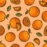 Modelo inconsútil anaranjado stock de ilustración