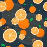 Modelo inconsútil anaranjado Foto de archivo libre de regalías