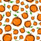 Modelo inconsútil anaranjado brillante del bosquejo Imágenes de archivo libres de regalías