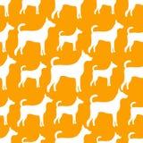Modelo inconsútil animal de las siluetas del perro Imagen de archivo libre de regalías