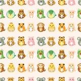 Modelo inconsútil animal del zodiaco chino libre illustration