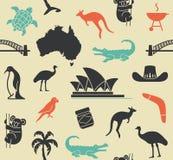 Modelo inconsútil australiano Imagen de archivo libre de regalías