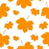 Modelo inconsútil Autumn Yellow Leaves Fotografía de archivo