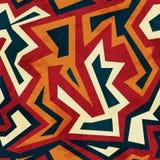 Modelo inconsútil azteca con el efecto de cristal libre illustration